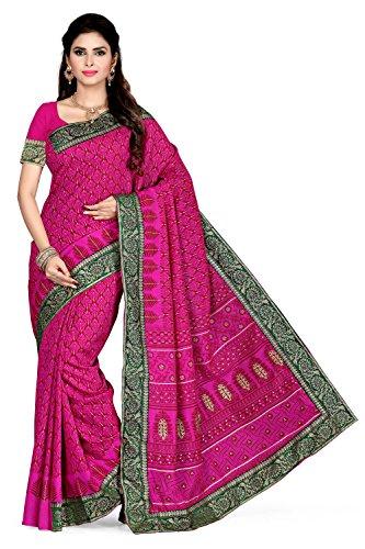 Rani Saahiba Raw Silk Saree (Skr2205_Pink)