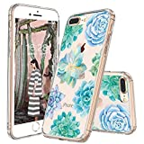 MOSNOVO Coque iPhone 8 Plus, Coque iPhone 7 Plus, Tropical Succulentes Clair Design...