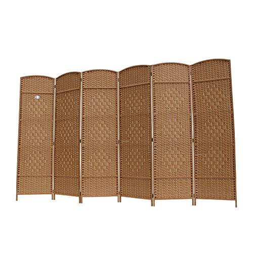Angel Living Biombo de Bambú con 6 Paneles