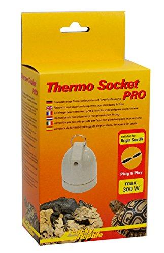 Lucky Reptile HTSP-3 Thermo Socket Pro, Porzellanfassung hängend, montierte Terrarienleuchte