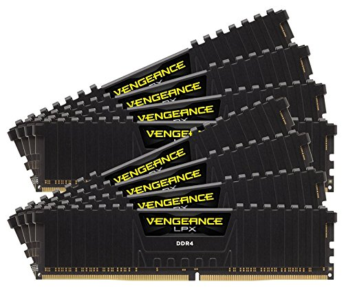 Corsair Vengeance LPX Memorie per Desktop a Elevate Prestazioni per AMD Threadripper,128 GB (8 X 16 GB), DDR4, 2400 MHz, C16 XMP 2.0, Nero