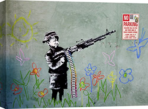 Art Print CAFÉ - Kunstdruck auf Leinwand - Street Art & Graffiti - Anonymus (attributed to Banksy), Westwood, Los Angeles - 100x70 cm - Cafe Leinwand