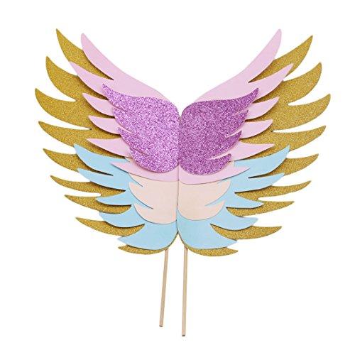 Yingwei VWH Wings Cupcake Toppers Flügel Kuchen Dekoration für Jubiläum, Geburtstagsfeier Hochzeit (Wings City Party)