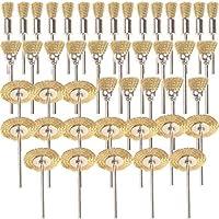 Shina Pack 45 piezas. Cepillos para pulido y encerado. Herramientas rotatorias de alta precision de metal rueda Dremel Rotary