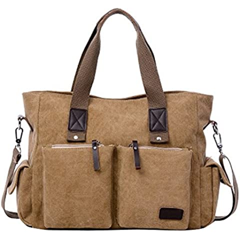 Canvas Shoulder Bag uomini borsa di svago