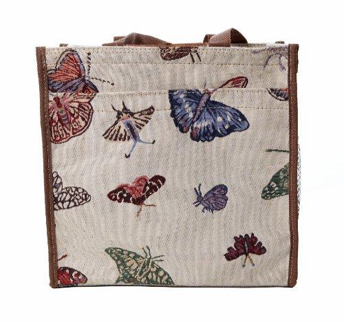 Borsa donna Signare in tessuto stile arazzo Shopping alla moda animale Farfalla