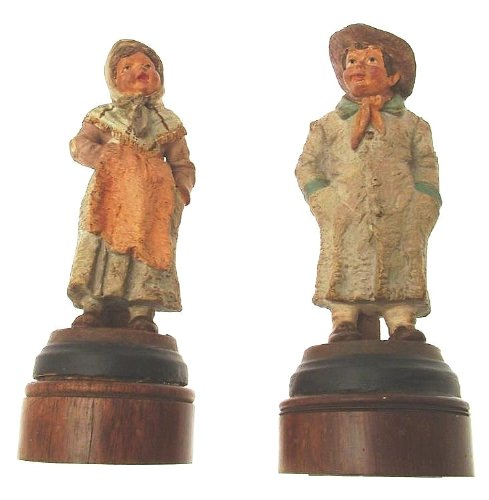 Pair of antique pottery figurines - possibly continental for sale  Delivered anywhere in UK