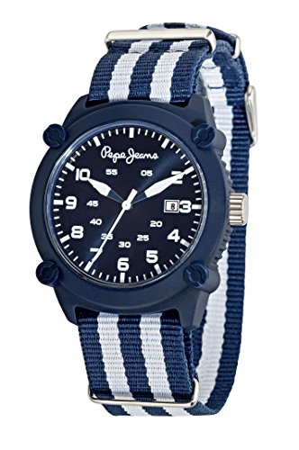 Pepe Jeans Brian Men's Quartz Watch with Black Dial Analogue Display and Silver Stainless Steel Strap R2353106002