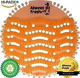 Urinaleinlage (Urinalsieb), Geruchsneutralisator mit beliebtem Mango Duft & Spritzschutz, passend für die meisten Urinale & Pissoirs, einschließlich wasserloser Urinale. 10-Stück Pack - Alwees Fresh