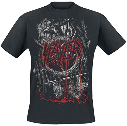 Slayer Dripping Eagle T-Shirt Schwarz M (Eagle Slayer)