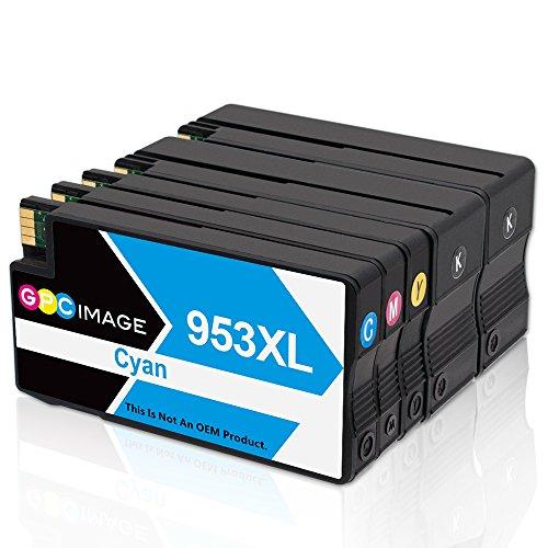Kompatibel Cyan-box (GPC Image Remanufactured Tintenpatrone für HP 953XL 953XL (2 Schwarz, 1 Cyan, 1 Magenta, 1 Gelb) Kompatibel mit HP Officejet Pro 8710 8715 8718 8719 8720 8725 8730 8740 7740 8218 Drucker)