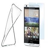 Silikon-Hülle für HTC Desire 626G + Panzerglas Set [360