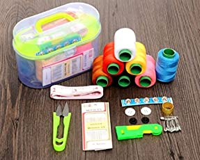 #Followme Sewing Tool Box With Threads, Scissor, Needles, Measuring Tape And More