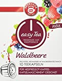 Teekanne easy Tea Waldbeere, 10 Stück Teekapseln für Nespresso - Kaffeemaschinen, 6 x 10er Pack (6 x 35 g)