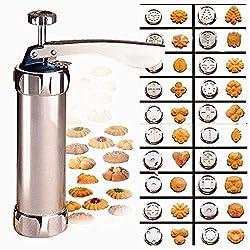Delmkin Gebäckpresse Cookie Gebäckspritze für DIY Kuchen & Kekse Form