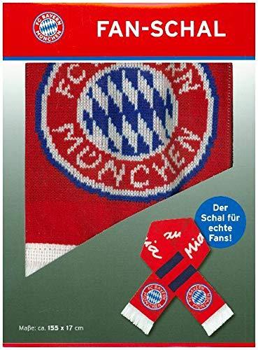 """FC Bayern München Fussball Fanschal \""""Mia San Mia\""""   Unisex Stadion Fanschal Bayern München   FCB Fanartikel mit Logo"""