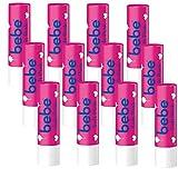 bebe Lippenpflegestift Soft Pink - Mit einem Hauch von Farbe - Mit Jojobaöl und Vitamin E - 12 x 4,9g