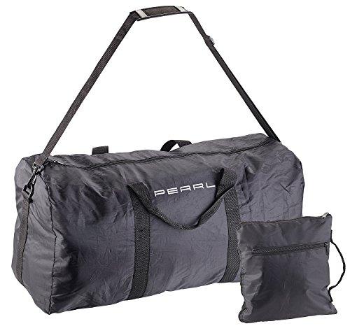 PEARL Faltbare Reisetasche: Leichte Falt-Reisetasche aus reißfestem Polyester, 58 Liter, Tragegurt (Falt-Koffer-Tasche) (Polyester-handgepäck)