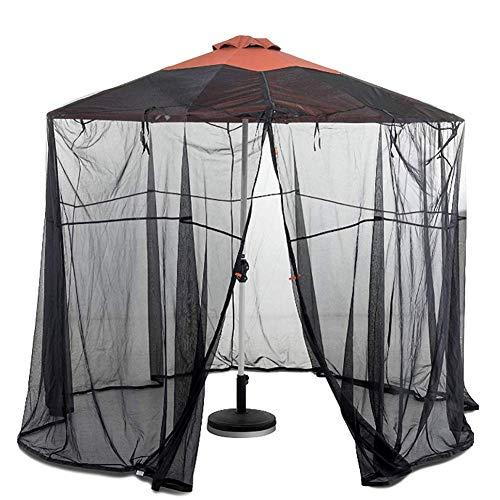 Hspoup Moskitonetz für Sonnenschirme mit Reißverschluss Fliegengitter Mückennetz für den Gartenschirm Ampelschirm