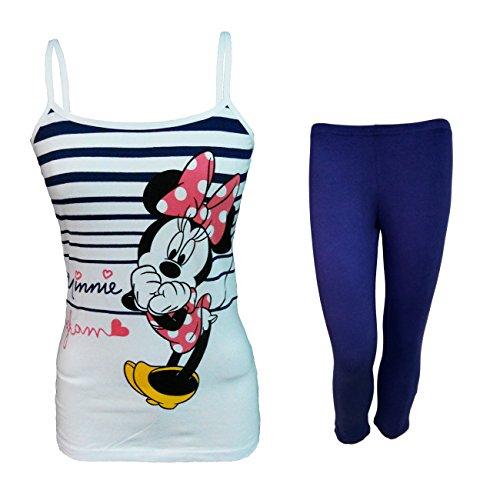 Disney completo donna top e leggings in cotone elasticizzato minnie topolina art. wd20353 (marine, m)