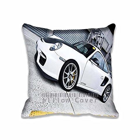 Coton Couvre-lit Taie d'oreiller DMStudio Lot rectangulaire Décor Couvre-lit Taie d'oreiller Motif voitures Porsche Porsche 997Gt2d'impression