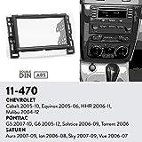 UGAR 11-470 Trim Car Radio Installation Facia Passend für Chevrolet Cobalt 2005-10, Equinox 2005-06, HHR 2006-11, Malibu 2004-12…