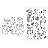 YFairy - Fustelle per Stencil, Timbro Trasparente, Giraffa, Metallo, Fustelle da Taglio, Stencil per Fai da Te, Album di Ritagli, Album fotografici, Biglietti, Decorazioni, goffratura