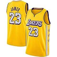 James Basketball Jersey, Lakers # 23 Chaleco sin Mangas Retro Bordado Juvenil, Juego de Entrenamiento Malla Transpirable Jersey de Secado rápido Camiseta de Recuerdo S-XXL-L