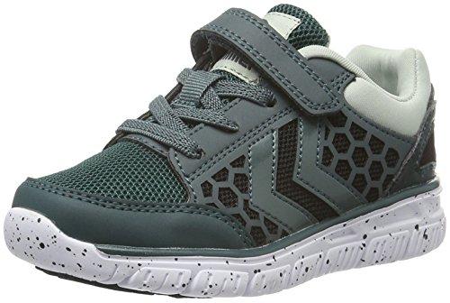 Hummel Crosslite Sneaker JR, Chaussures de Fitness Mixte Enfant Vert (Ponderosa Pine)