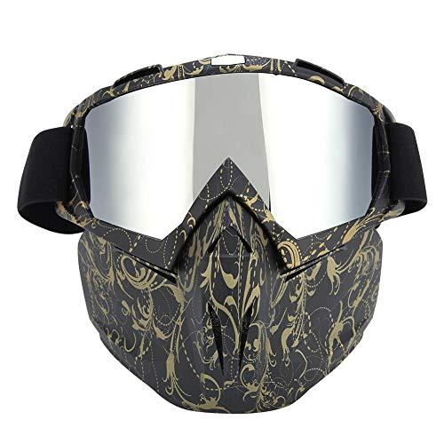 Preisvergleich Produktbild Naroote Gesichtsmaske,  Anti-UV abnehmbare Motorradbrille für Rennrad Snowboard Ski(D)