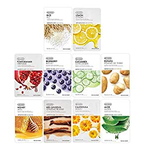The Face Shop Real Nature Daily Glow Masksheet Combo (Pack Of 10), 200 g