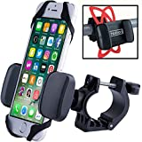 Bike Phone Holder For Smartphone, iPhone Bike Mount. Securely Mount Any Mobile On Your Bicycle Handlebar in Seconds. Ideal Gift For Cyclist, iPhone 4, 5, 6, 7, Samsung,Experia Compatible