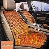Cuscino del sedile riscaldato intelligente da 12 V, cuscino antiscivolo per cuscino del sedile per auto, cuscino invernale per schienale e sedile, coprisedile riscaldato per auto, casa, sedia da
