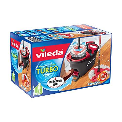 Vileda Turbo EasyWring & Clean Komplett-Set, Wischmop und Eimer mit PowerSchleuder - 2
