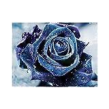 livecity Rose Blume Diamant Malerei DIY Stickerei Kreuzstich Wand Home Dekoration ohne Rahmen, 8008, Large