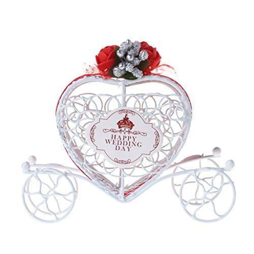 tsche Schokolade Süßigkeiten Box Geburtstag Hochzeit Party Gastgeschenk Dekoration Geschenk, Eisen, rot, 11.5cmx9cmx3cm ()
