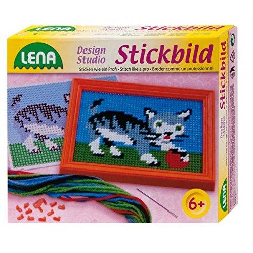 Lena 42601 - Stickbild Katze