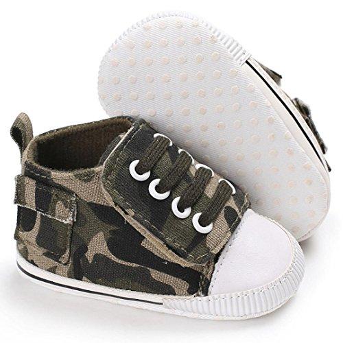 Martin Snow Boots Schuhe Jamicy® Herbst Winter Warme Wasserdichte Leder Fluff Haken und Schleife Freien Shoes für Babys und Jungen (0~6 Monate, Armeegrün)