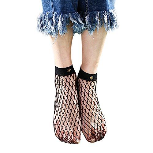 Gaddrt Frauen Rüschen Fischnetz Knöchel hohe Socken Mesh Lace Fisch Net kurze Socken (C) - Knöchel Fischnetz-socken