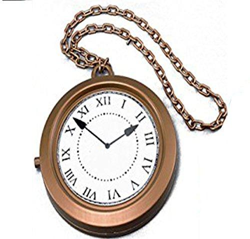tte mit großem Uhrenanhänger / Taschenuhr, Verkleidungszubehör für Weißes Kaninchen aus Alice im Wunderland (Sofia Halskette)