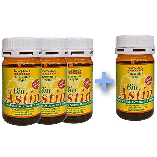 Astaxanthin - aus Hawaii - 3+1 GRATIS BiuAstin 50 Kapseln vegan mit 12 mg natürlichem Astaxanthin - Das Original Ivarsson's BiuAstin!