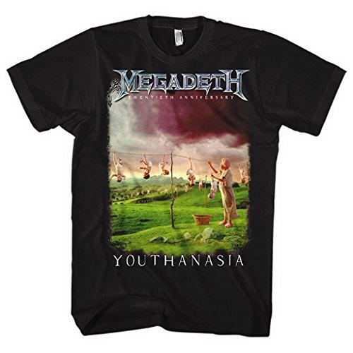 Megadeth Youthanasia Rock Heavy Thrash Metal oficial Camiseta...