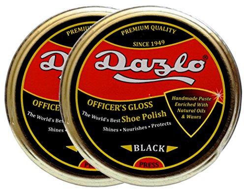Dazlo Shoe Polish - Black (2x40g) - Handmade Natural Wax