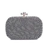 Deebubblering Damen Tasche Diamant Abend Party Tasche Damen Strass Handtasche (Color : Black)