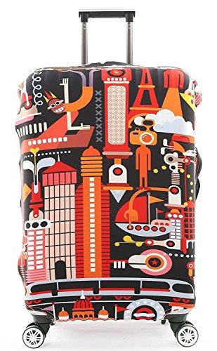 Cover Proteggi Valigia Protettore dei Bagagli Valigia Borsa Elastica Suitcase Cover Proteggi bagagli luggage Cover Pop Castello di viaggio (XL 30-32 Pollici)