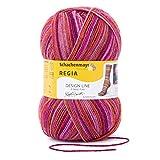 REGIA 4-fädig Design Line by Kaffe Fassett 9801270-03769 passion Handstrickgarn, Sockengarn, 100g Knäuel