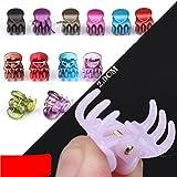 cuhair (20 Pack) Newest Bangs Mini Hair Claw Clip Hair Pin For Little Girls Women Random Assorted Mix Colored