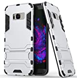 TAITOU Galaxy S5 Case, Awesome Armor Foldable Movie Back Stand Slim Cover, New Ultra Hybrid 2 In 1 Thin Anti Drop/Scratch Warrior Protect Phone Case for Samsung Galaxy S5 Silver