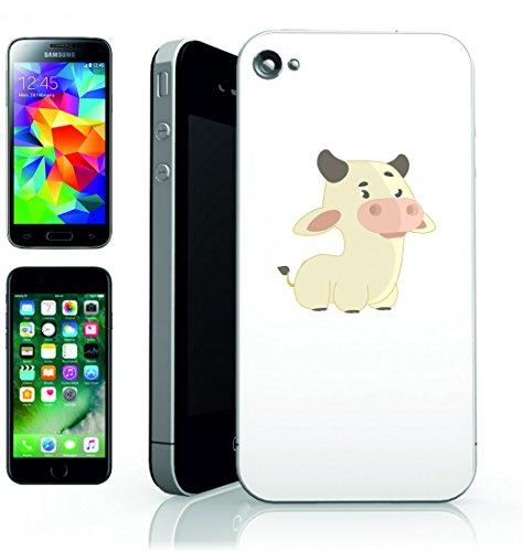 Smartphone Case Mucca di errore di animale della Natura della dolce giallo di animali per Apple Iphone 4/4S, 5/5S, 5C, 6/6S, 7& Samsung Galaxy S4, S5, S6, S6Edge, S7, S7Edge Huawei HTC–Diverti