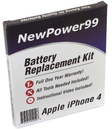 Akku-Austausch-Kit für das Apple iPhone 4 mit Installations-Video, Werkzeuge und langarbeitenden Akku